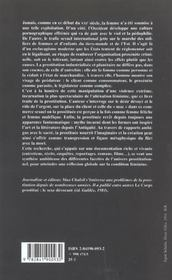 Prostitution ; Le Desir Mystifie - 4ème de couverture - Format classique