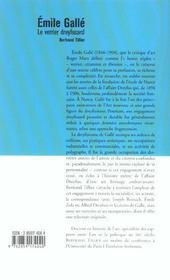 Emile Gallé - le verrier dreyfusard - 4ème de couverture - Format classique