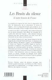 Les Bruits Du Silence - 4ème de couverture - Format classique