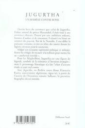 Jugurtha, Un Berbere Contre Rome - 4ème de couverture - Format classique