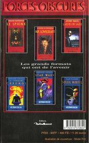 Phénix, numéro 54, Tim Burton - 4ème de couverture - Format classique
