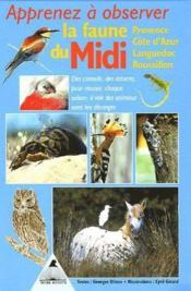 Apprenez à observer la faune du midi - Couverture - Format classique