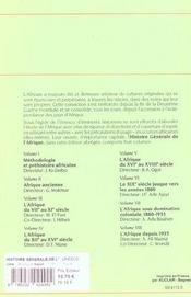 Histoire generale de l'Afrique t.7 ; l'Afrique sous domination coloniale, 1880-1935 - 4ème de couverture - Format classique