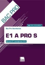 E1A pro S ; pochette de l'eleve (14e edition) – Francois Cartier