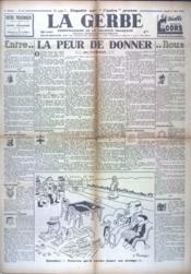 Gerbe (La) N°43 du 01/05/1941 - Couverture - Format classique