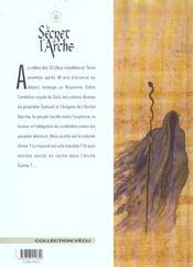 Le secret de l'arche t.1 ; Saül - 4ème de couverture - Format classique