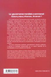 La Gouvernance Mondiale A Commence - 4ème de couverture - Format classique
