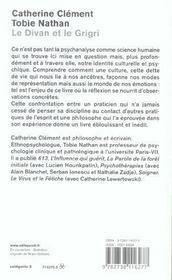 Le Divan Et Le Grigri - 4ème de couverture - Format classique