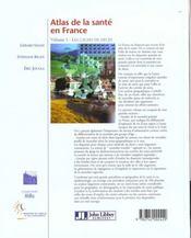 Atlas De La Sante En France T.1 ; Les Causes De Deces - 4ème de couverture - Format classique