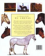 Le grand livre du cheval - 4ème de couverture - Format classique