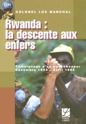 Rwanda ; La Descente Aux Enfers - Intérieur - Format classique