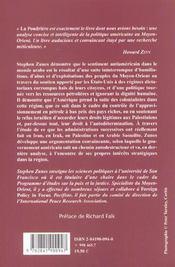 La Poudriere ; La Politique Americaine Au Moyen-Orient Et Les Racines Du Terrorisme - 4ème de couverture - Format classique