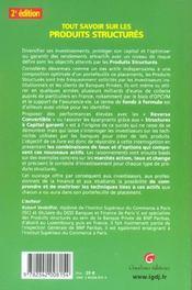 Tout Savoir Sur Les Produits Structures, 2eme Edition - 4ème de couverture - Format classique