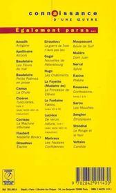 Madame Bovary - Flaubert - 4ème de couverture - Format classique