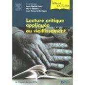 Lecture Critique Appliquee Au Vieillissement - Couverture - Format classique