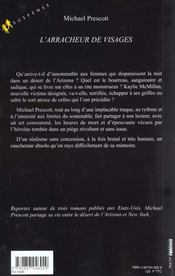 L'Arracheur De Visages - 4ème de couverture - Format classique
