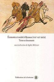 Économie et société à Byzance (VIIIe-XIIe siècle) - Couverture - Format classique