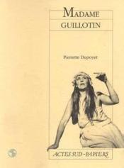 Madame guillotin - Couverture - Format classique