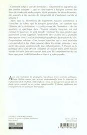 Aux Sources De La Crise Des Grands Ensembles ; Essai Sur Les Grands Ensembles D'Habitation - 4ème de couverture - Format classique
