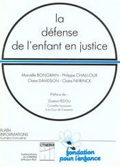 La defense de l'enfant en justice - Intérieur - Format classique