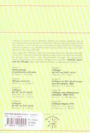 Histoire generale de l'afrique t.8 ; l'Afrique depuis 1935 - 4ème de couverture - Format classique