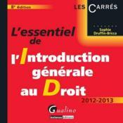 L'essentiel de l'introduction générale au droit ; 2012-2013 (8e édition) - Couverture - Format classique