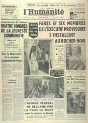 Humanite (L') N°5470 du 30/03/1962 - Couverture - Format classique