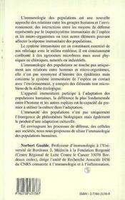 Immunite Et Humanite ; Essai D'Immunologie Des Populations - 4ème de couverture - Format classique