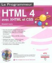 Html 4 avec xhtml et css - Intérieur - Format classique