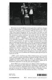 Paysan militant, Jacques Leroy Ladurie - 4ème de couverture - Format classique