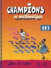 Champions en mathematiques ce1 (cameroun/panaf) - Couverture - Format classique