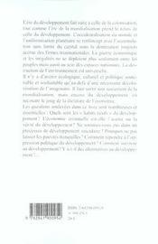Defaire Le Developpement Refaire Le Monde - 4ème de couverture - Format classique