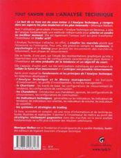 Tout Savoir Sur L'Analyse Technique - 4ème de couverture - Format classique