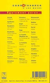 Alcools - Apollinaire - 4ème de couverture - Format classique
