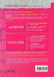 Prepa sage femme (biologie physique chimie francais) - 4ème de couverture - Format classique