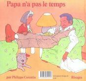 Papa n'a pas le temps - 4ème de couverture - Format classique
