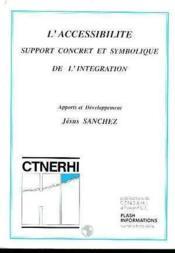 L'Accessibilite, Support Concret Et Symbolique De L'Integration - Couverture - Format classique