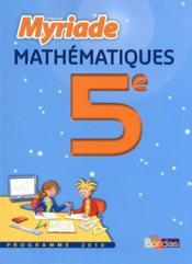 Mathématiques ; 5ème ; manuel grand format (édition 2010) - Couverture - Format classique