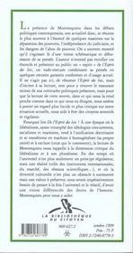 Actualite De Montesquieu - 4ème de couverture - Format classique