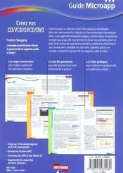 Creez Vos Cd, Vcd, Svcd, Dvd - 4ème de couverture - Format classique