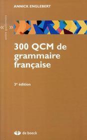 300 QCM de grammaire française (3e édition) - Intérieur - Format classique