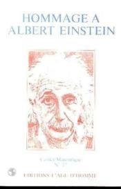 Hommage A Albert Einstein - Couverture - Format classique