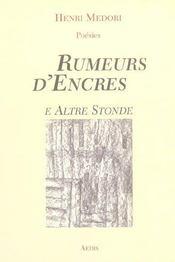 Rumeurs d'encres e altre stonde - Intérieur - Format classique