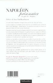 Napoleon Prisonnier Vu Par Les Anglais - 4ème de couverture - Format classique