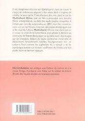 Mulholland drive de david lynch - 4ème de couverture - Format classique