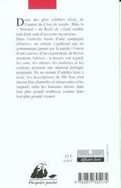 Le radis de cristal - 4ème de couverture - Format classique
