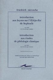 Introduction Aux Lecons Sur L'Oedipe-Roi De Sophocle - Couverture - Format classique