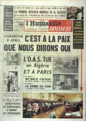 Humanite Dimanche (L') N°710 du 01/04/1962 - Couverture - Format classique