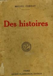 Des Histoires. - Couverture - Format classique