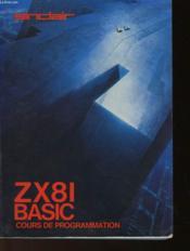 Zx8i Basic Cours De Programmation - Couverture - Format classique